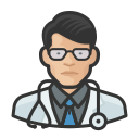 asian, coronavirus, doctor, male, n-95 mask icon