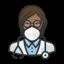 black, coronavirus, doctor, female, n-95 mask