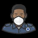black, coronavirus, ems, male, n-95 mask