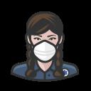 coronavirus, ems, female, n-95 mask, white