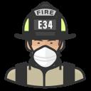 asian, coronavirus, firefighter, male, n-95 mask