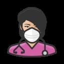 asian, coronavirus, female, n-95 mask, nurse