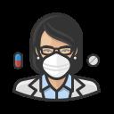 asian, coronavirus, female, n-95 mask, pharmacist
