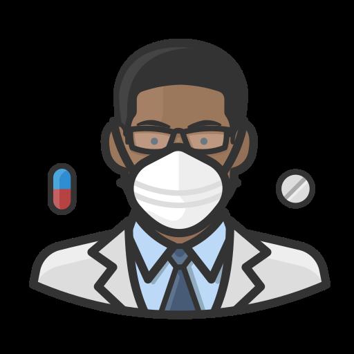 Black, coronavirus, male, n-95 mask, pharmacist icon - Free download
