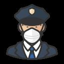 asian, coronavirus, male, n-95 mask, police icon
