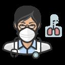 asian, coronavirus, female, n-95 mask, pulmonologist