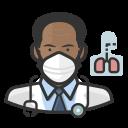 black, coronavirus, male, n-95 mask, pulmonologist icon