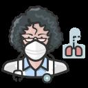 coronavirus, female, n-95 mask, pulmonologist, white