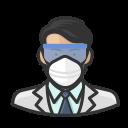 asian, coronavirus, male, n-95 mask, virologist