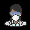 black, coronavirus, female, n-95 mask, virologist
