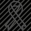 aids ribbon, cancer ribbon, ribbon icon