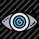 checkup, eye, optometry, test, vision icon