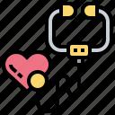 cardio, checkup, clinic, doctor, heart icon