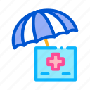 care, checkup, health, healthcare, medical, umbrella, under