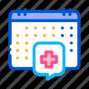 calendar, checkup, health, healthcare, hospital, list, visit