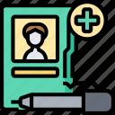 report, book, patient, recording, information