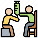 blood, clinic, examination, injection, test icon