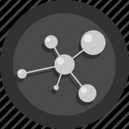 gene, health, molecule, research, science icon