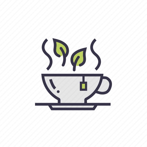green, heathly, leaves, loss, tea, weight icon