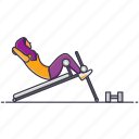 activity, body, exercise, gym, radical, routine, workout icon