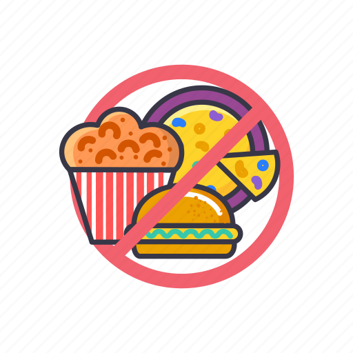 burger, food, gain, loss, pizza, snacks, weight icon