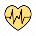 beat, favorite, heart icon