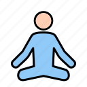 health, healthy, miditation, yoga icon