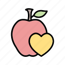 food, health, healthy, heart icon