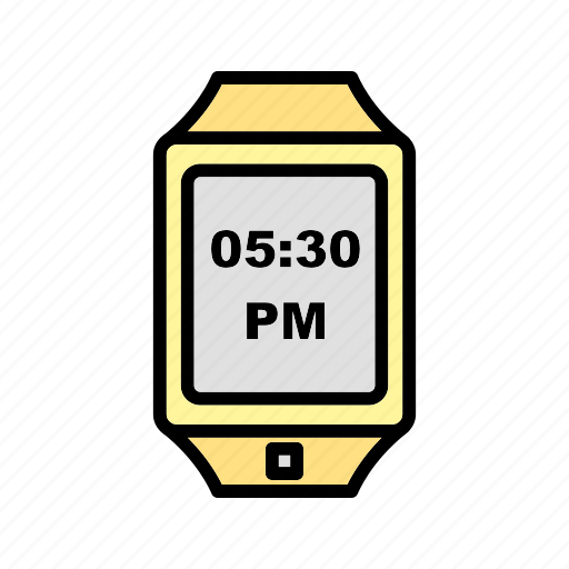 digital, smart, timer, watch icon