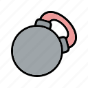 body building, health, healthy, kettlebell icon
