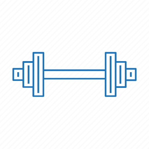 barbell, exercise, gym, strength, weight, weightlifting icon