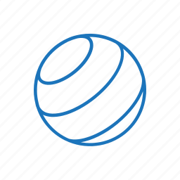 ball, exercise, fitness, work out icon