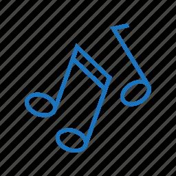 audio, music, note, playlist, sound, volume icon