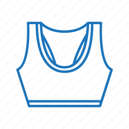 exercise, fitness, sport bra, sportswear, top, work out icon