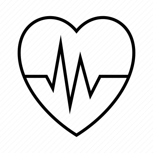 heart, medical, pulse, rate icon