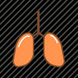 chest, human organ, lungs, organ, respiratory organ, respiratory system icon