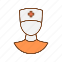 clinic attendant, health, medical, medical attendant, medicine, nurse icon