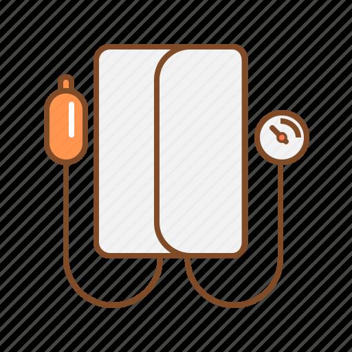 blood pressure, blood pressure meter, bp monitor, meter, sphygmomanometer icon