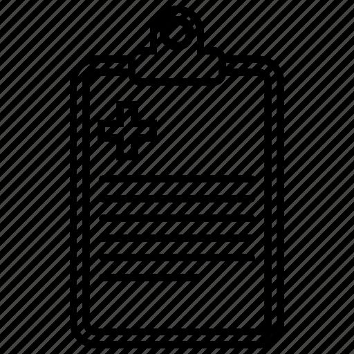 medical notes, notepad, prescription, receipt icon