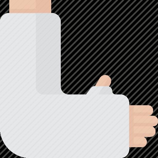 arm, broken, broken arm, cast, wrist icon