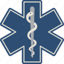 asclepius, ems, emt, health, medical icon