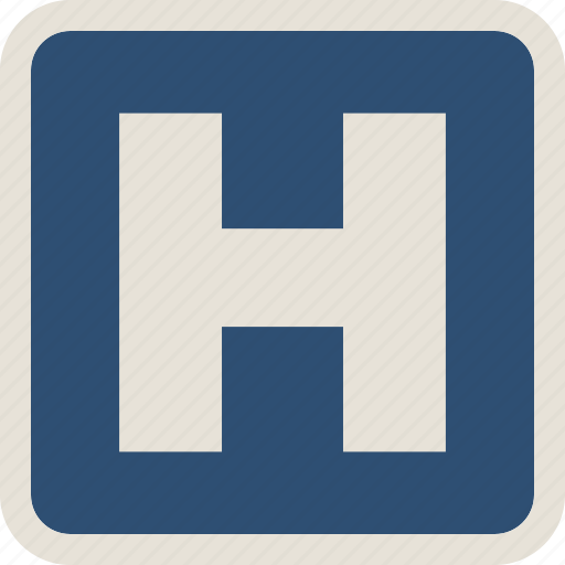 hospital, medical, road, sign icon