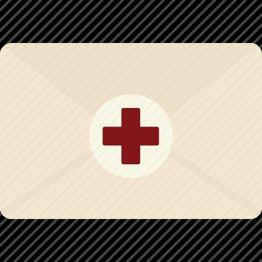 envelope, healthcare, lab, medical, results icon