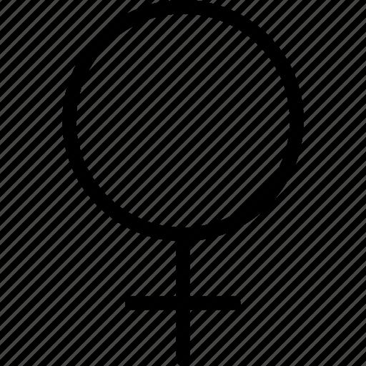female, female gender, female sign, gender icon