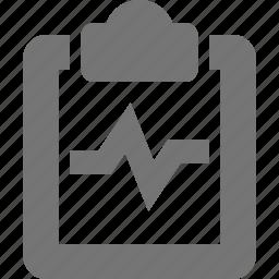 clipboard, graph, health icon