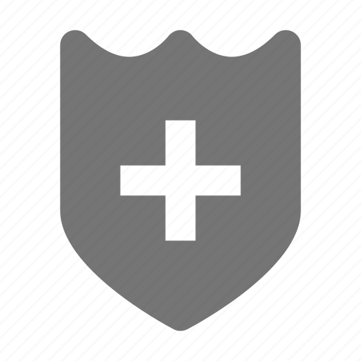 health, healthcare, security, shield icon