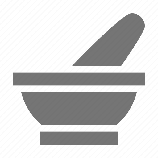 health, mortar, pestle icon