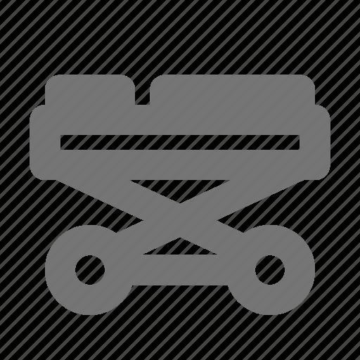 health, patient, stretcher icon
