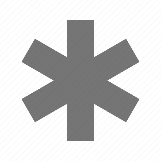 askterik, asterix, medical icon