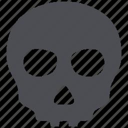 alert, anatomy, danger, dead, death, skeleton, skull icon